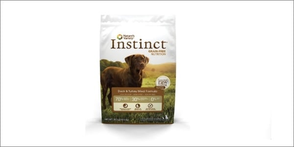 Nature's Variety Instinct Dry Dog Food Packaging