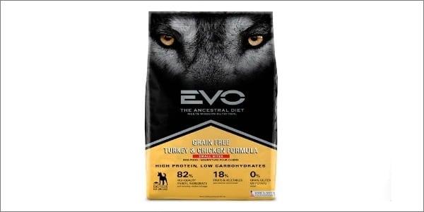 EVO Small Bite Dog Food Packaging