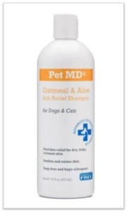 dog oatmeal shampoo bottle