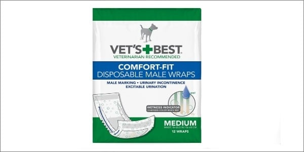 Vet's Best Comfort Fit Disposable Male Wrap